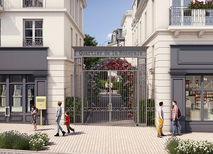 Portail du programme immobilier neuf Quartier de la Roseraie à L'Haÿ-les-Roses