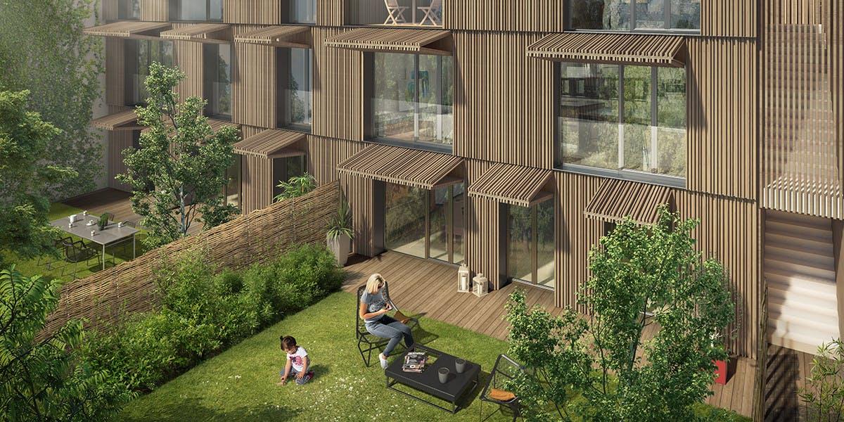 Programme immobilier 7 rue de Tolbiac à Paris 13 : jardin privatif
