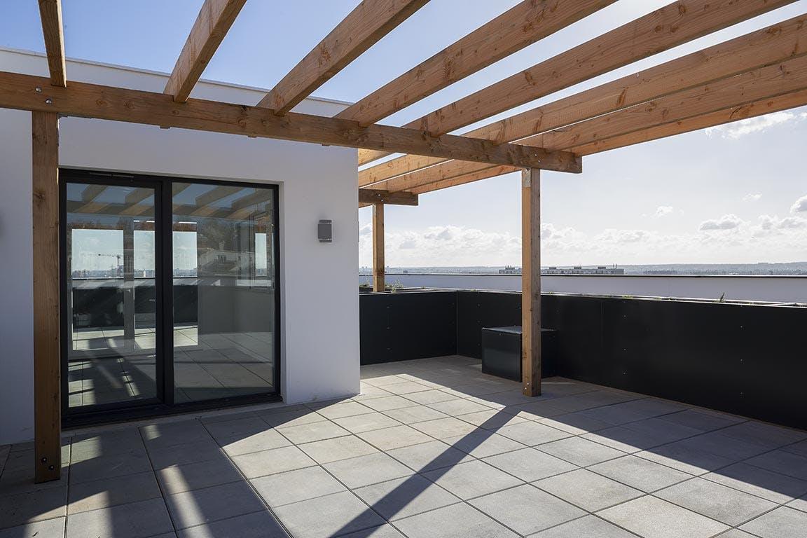 Variations à Vitry-sur-Seine : livraison de l'immeuble Kopo (terrasse)
