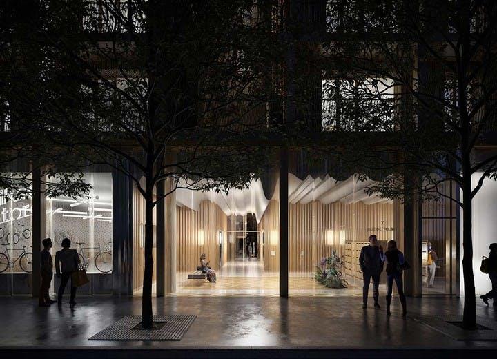 Programme immobilier 7 rue de Tolbiac à Paris 13 : hall d'entrée