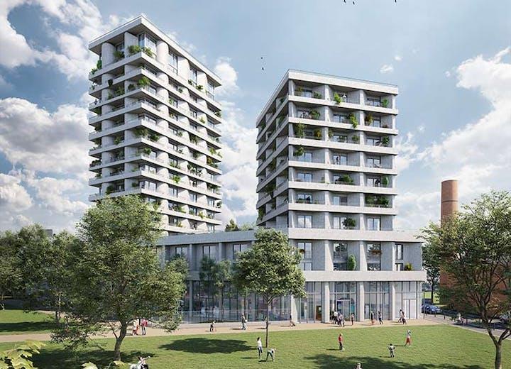 11 Rue Galilée à Ivry : résidence depuis le parc Triangle MEDIAS MOBILE