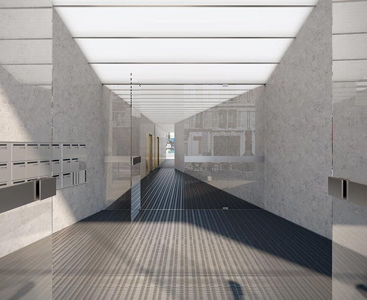 Ateliers Vaugirard chapitre 1 à Paris 15 : hall d'entrée MEDIAS MOBILE