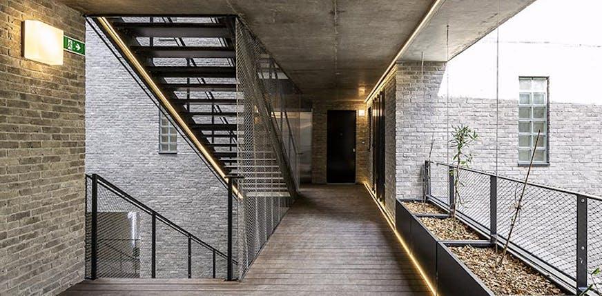 Livraison du programme immobilier neuf 12 Popincourt à Paris 11 : coursive