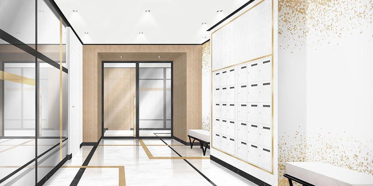 Hall d'entrée du programme neuf Rue du Maréchal de Lattre de Tassigny