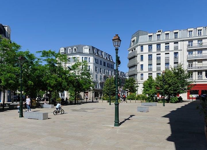 Place des Champs Philippe à La Garenne-Colombes MEDIAS MOBILE