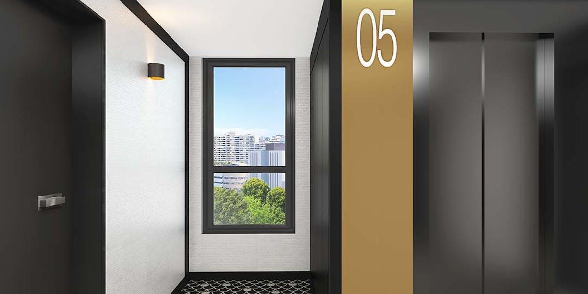 Palier d'étage du programme immobilier neuf Allée du Colonel Fabien à Nanterre