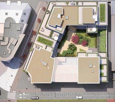 1 Marcel Sembat à Saint-Denis : plan masse