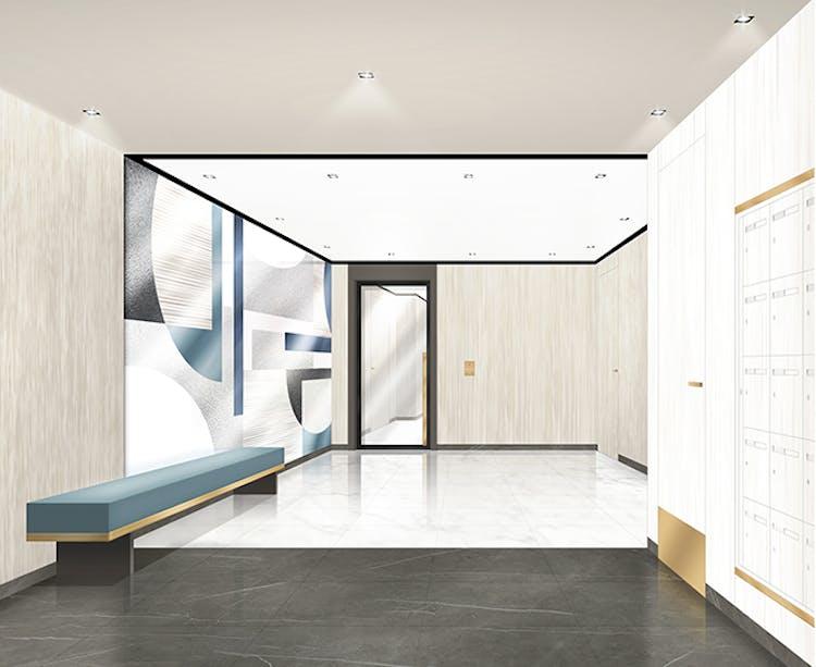 """Hall du programme immobilier neuf à La Garenne-Colombes """"51 Rue Veuve Lacroix"""""""