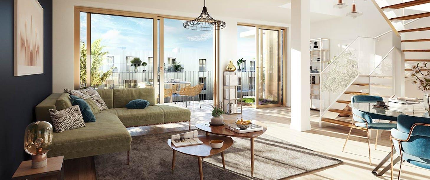 Appartement duplex du programme immobilier neuf Ateliers Vaugirard chapitre 2 à Paris 15