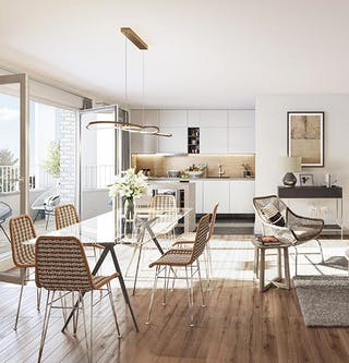 Appartement neuf du programme immobilier Allée du Colonel Fabien à Nanterre