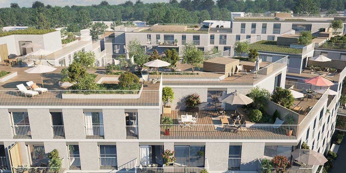 Allée du Parc à Massy : terrasse en toiture