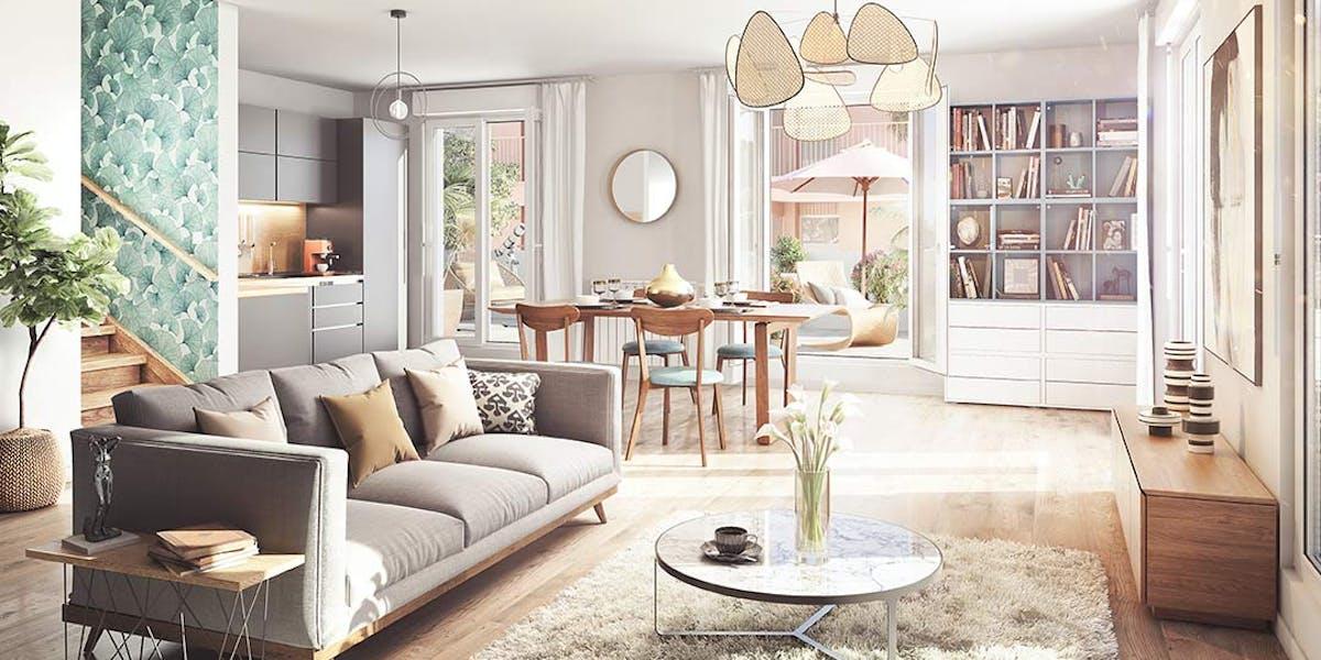 Appartement duplex du programme immobilier neuf Rue Gustave Courbet à Bagneux