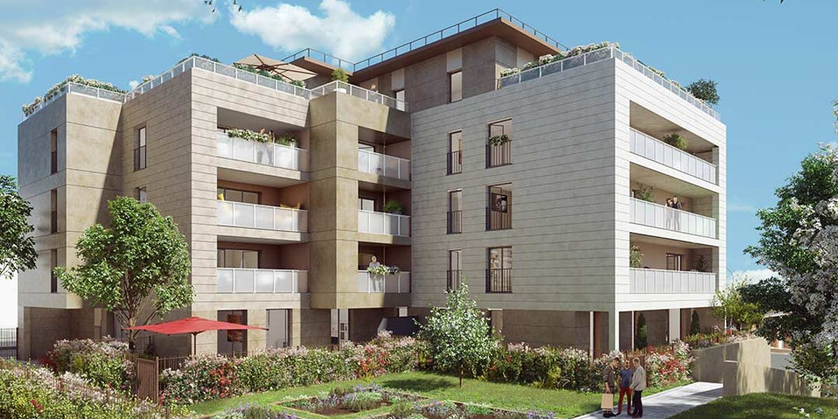Coeur d'îlot du programme immobilier neuf Rue Tronchet à Palaiseau