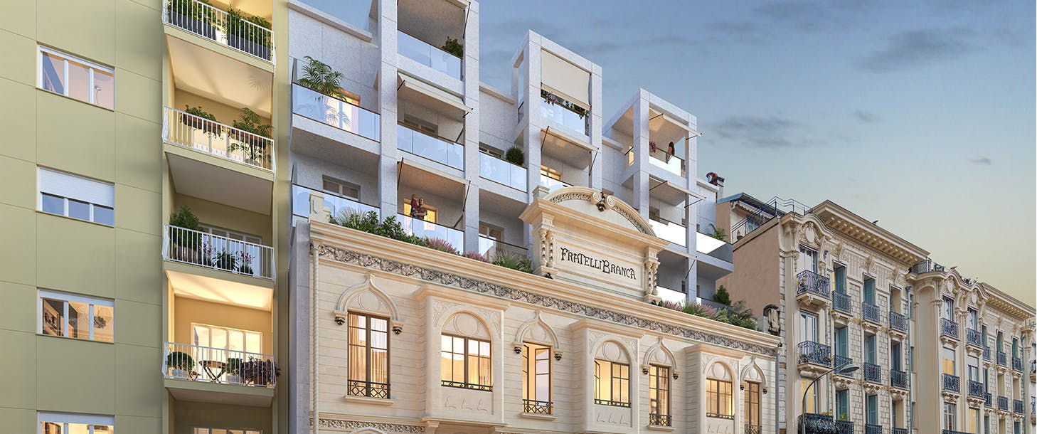 Facade du programme immobilier neuf à Nice