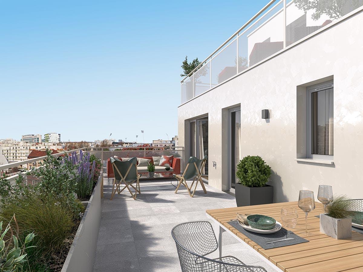 21 Jean Jaurès à Gentilly : terrasse