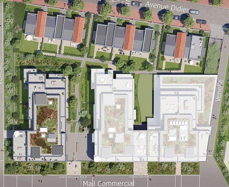 Plan masse du programme immobilier neuf 60 Avenue Didier à Saint-Maur
