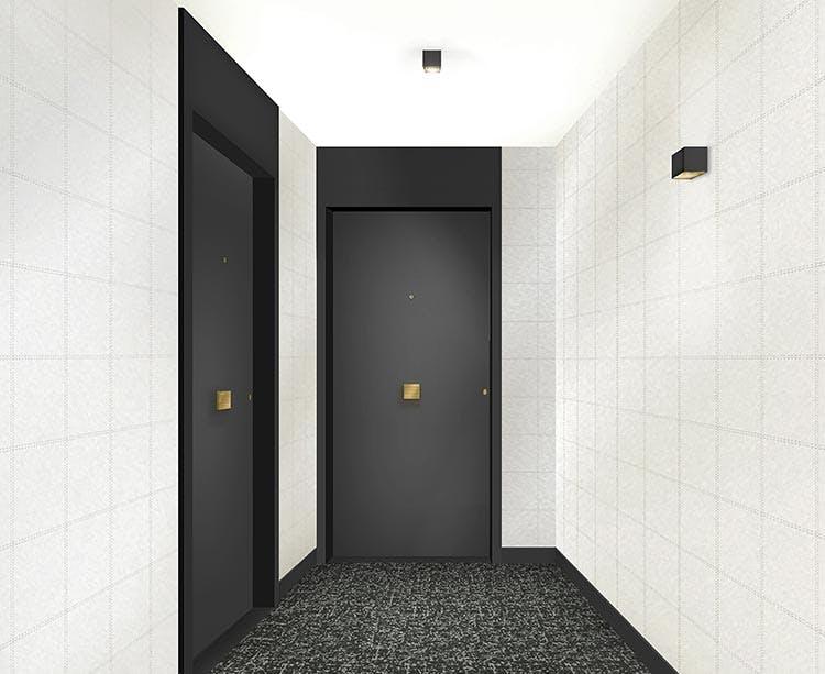 Palier d'étage du programme immobier neuf Rue Vladimir Kramnik à Asnières-sur-Seine
