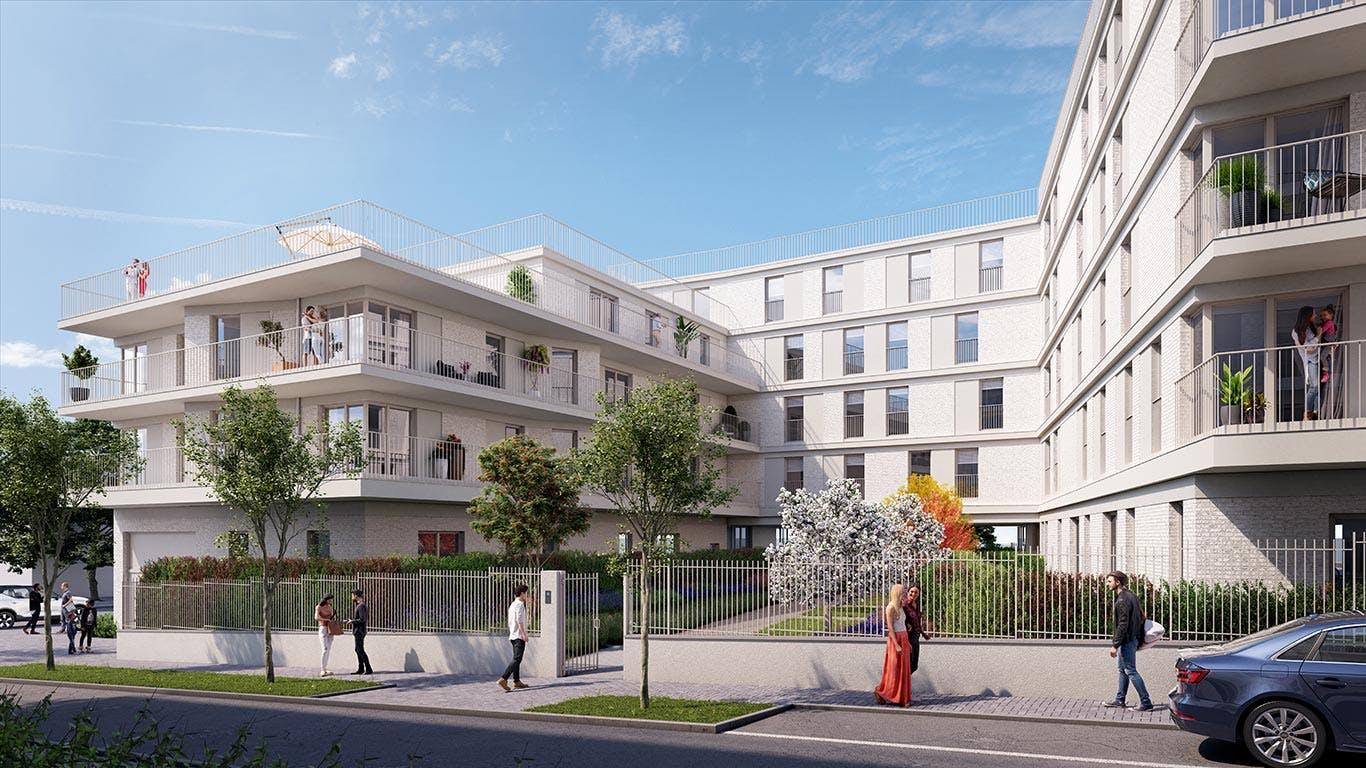 Rue Edouard Renard à Pantin : jardin paysager