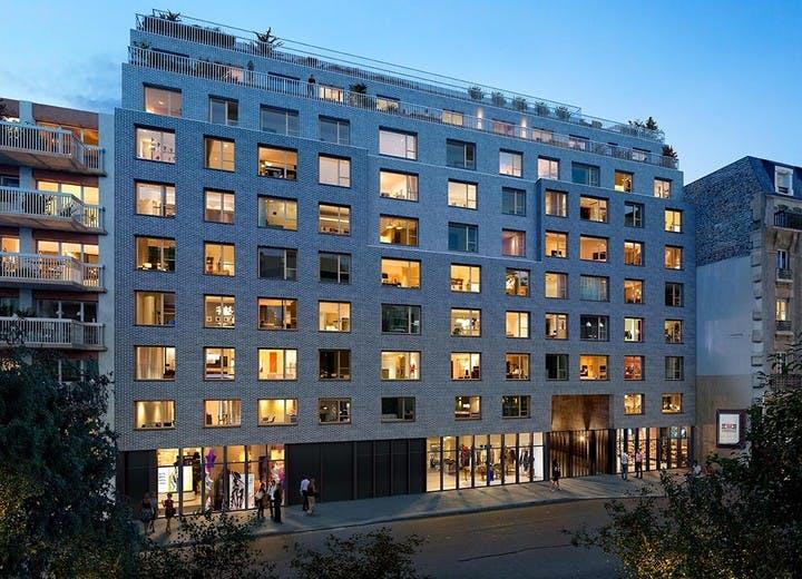 La résidence neuve Rue Petit à Paris 19