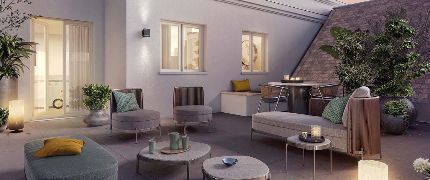 """Terrasse du programme immobilier neuf à Châtenay-Malabry """"Route du Plessis Piquet"""""""