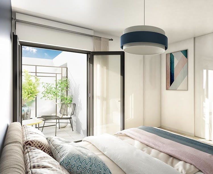 Chambre d'un appartement du programme neuf 60 Avenue Didier à Saint-Maur