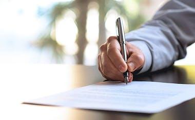 Signature d'un compromis de vente immobilière