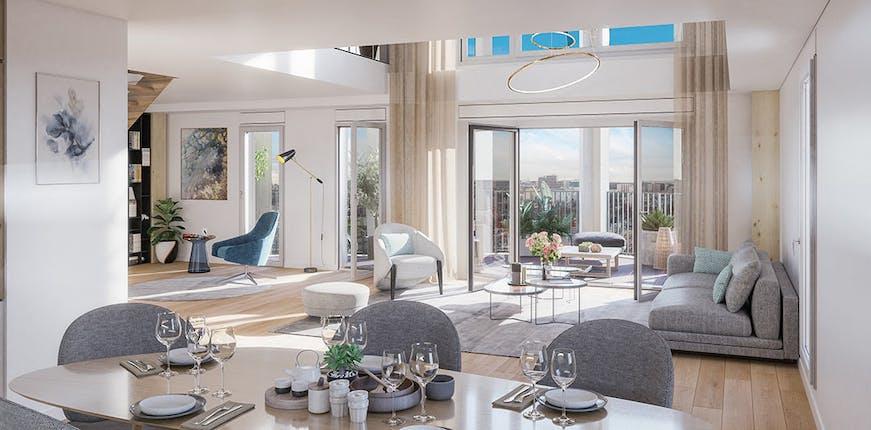 Appartement en duplex en vente VEFA à Paris 13, résidence Le Berlier