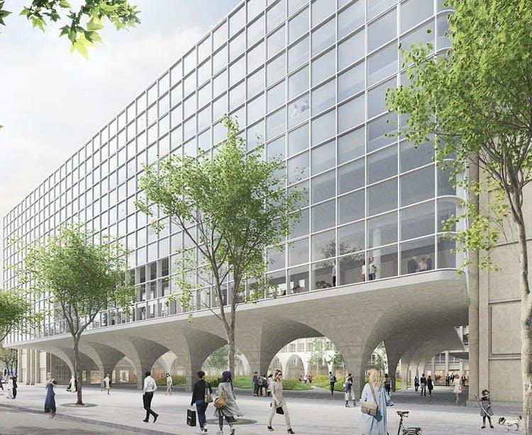 Programme immobilier Rue Agrippa d'Aubigné à Paris 4 vu depuis le boulevard Morland