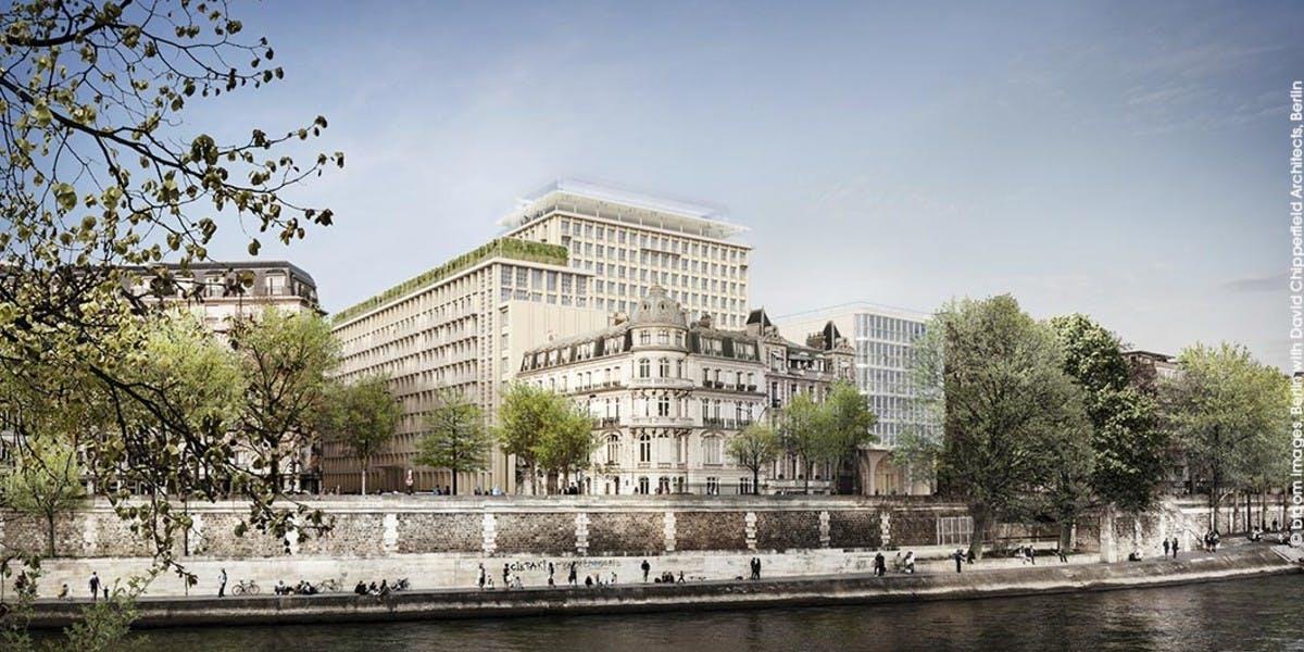 Programme immobilier Rue Agrippa d'Aubigné à Paris 4 vu depuis l'Île-Saint-Louis