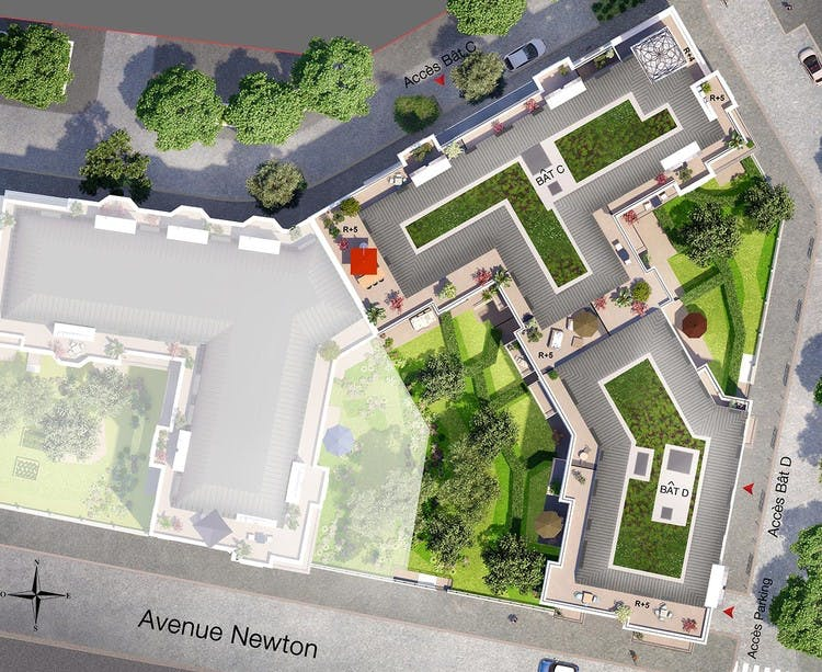 Canal Avenue à Clamart : plan masse