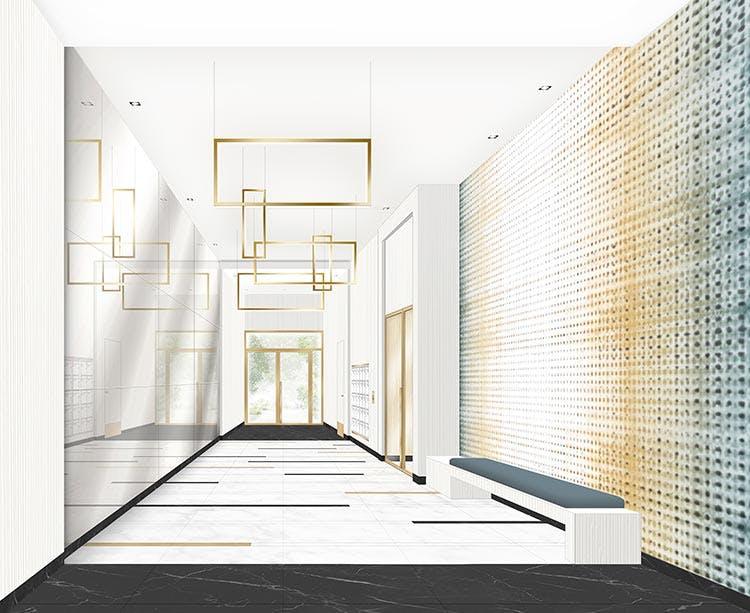 Hall d'entrée du programme immobier neuf Rue Vladimir Kramnik à Asnières-sur-Seine