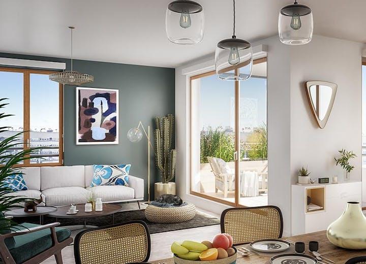 """Appartement neuf du programme immobilier neuf à Gennevilliers """"Rue Claude Robert"""""""