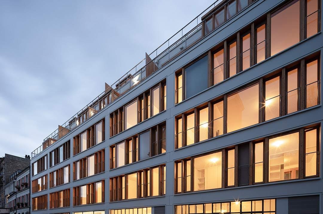 Programme immobilier neuf 9 Charrière à Paris 11 : façade de la résidence livrée