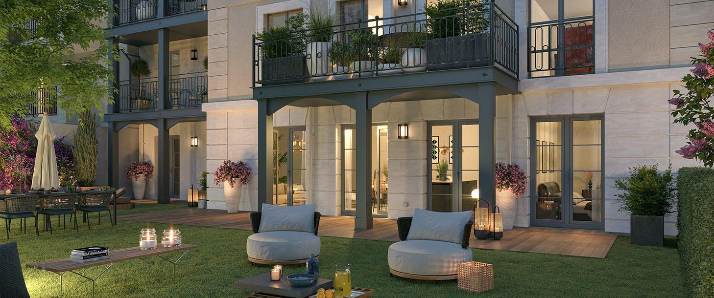 """Jardin du programme immobilier neuf à La Garenne-Colombes """"51 Rue Veuve Lacroix"""""""