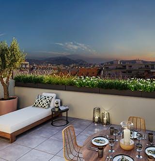 Terrasse du programme immobilier neuf à Nice