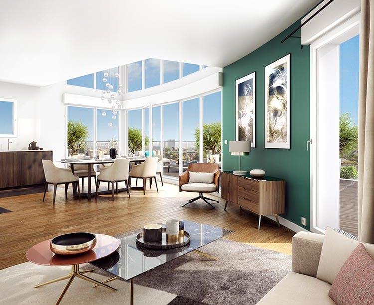 Appartement double hauteur du programme Carré de l'Arsenal à Rueil