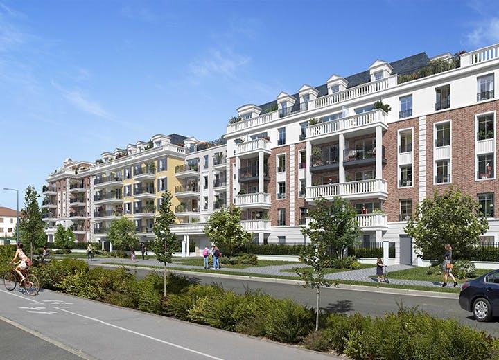 Facade rue Voltaire du programme immobilier neuf 102 avenue Aristide Briand au Blanc-Mesnil