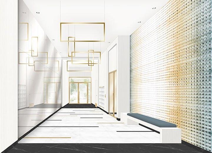 """L'un des halls d'entrée du programme immobilier neuf à Asnières """"Rue Vladimir Kramnik"""""""