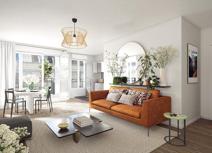 Salon du programme immobilier neuf 102 avenue Aristide Briand au Blanc-Mesnil