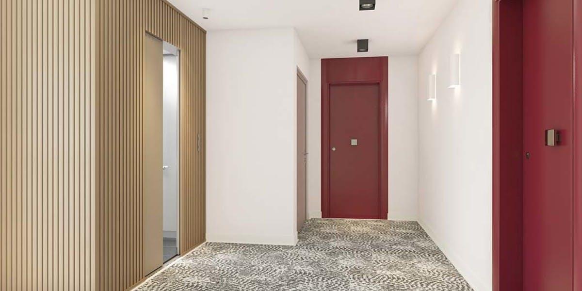 Les Allées Maria Casarès à Gennevilliers : palier d'étage