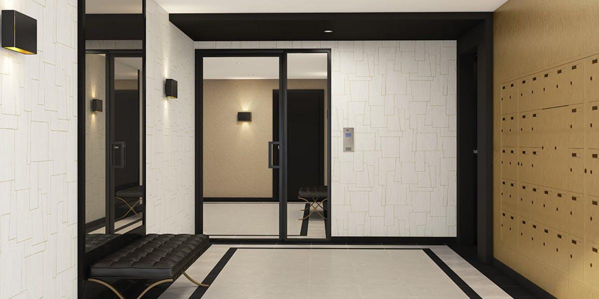 Hall d'entrée du programme immobilier 164 Gabriel Péri à Rosny