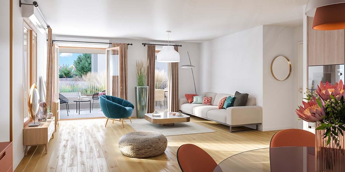 """Salon du programme immobilier neuf """"Rue Vladimir Kramnik"""" à Asnières-sur-Seine"""