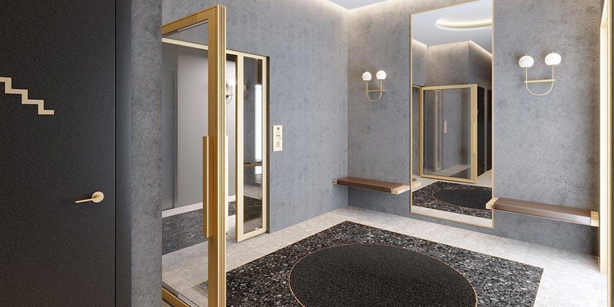 Hall du programme immobilier neuf Rue Petit à Paris 19
