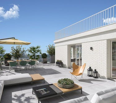 Terrasse (vue jour) du programme immobilier neuf Rue Edouard Renard à Pantin