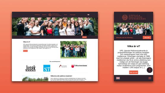 New website for UPS - Desktop and mobile version.
