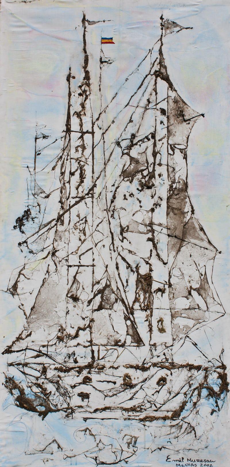 Bricul Mircea pictat din pânză de păianjen