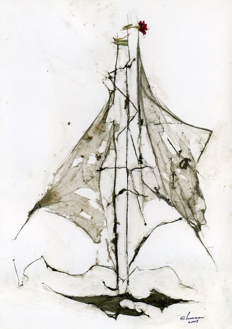 Un vapor pictat din pânză de păianjen