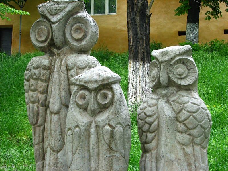 Lucrare monumentală Bufnițele orașului Mediaș