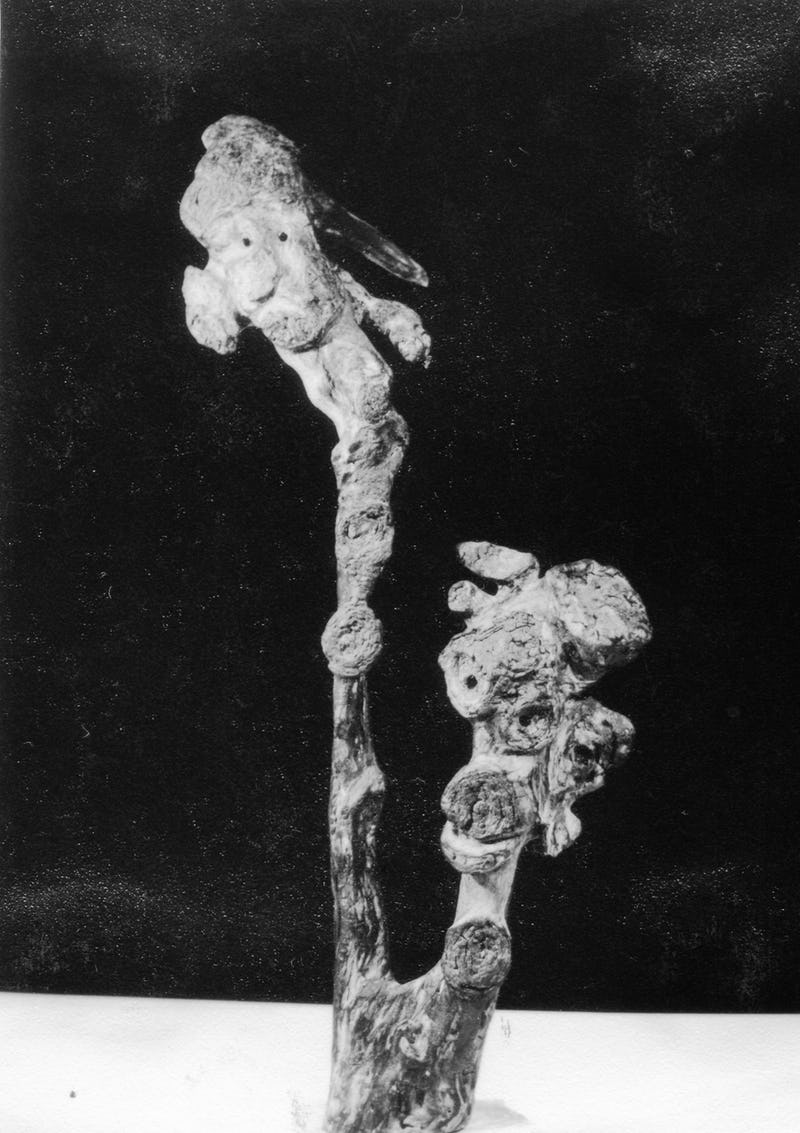 Lucrare din piatră sub forma a doi jucători