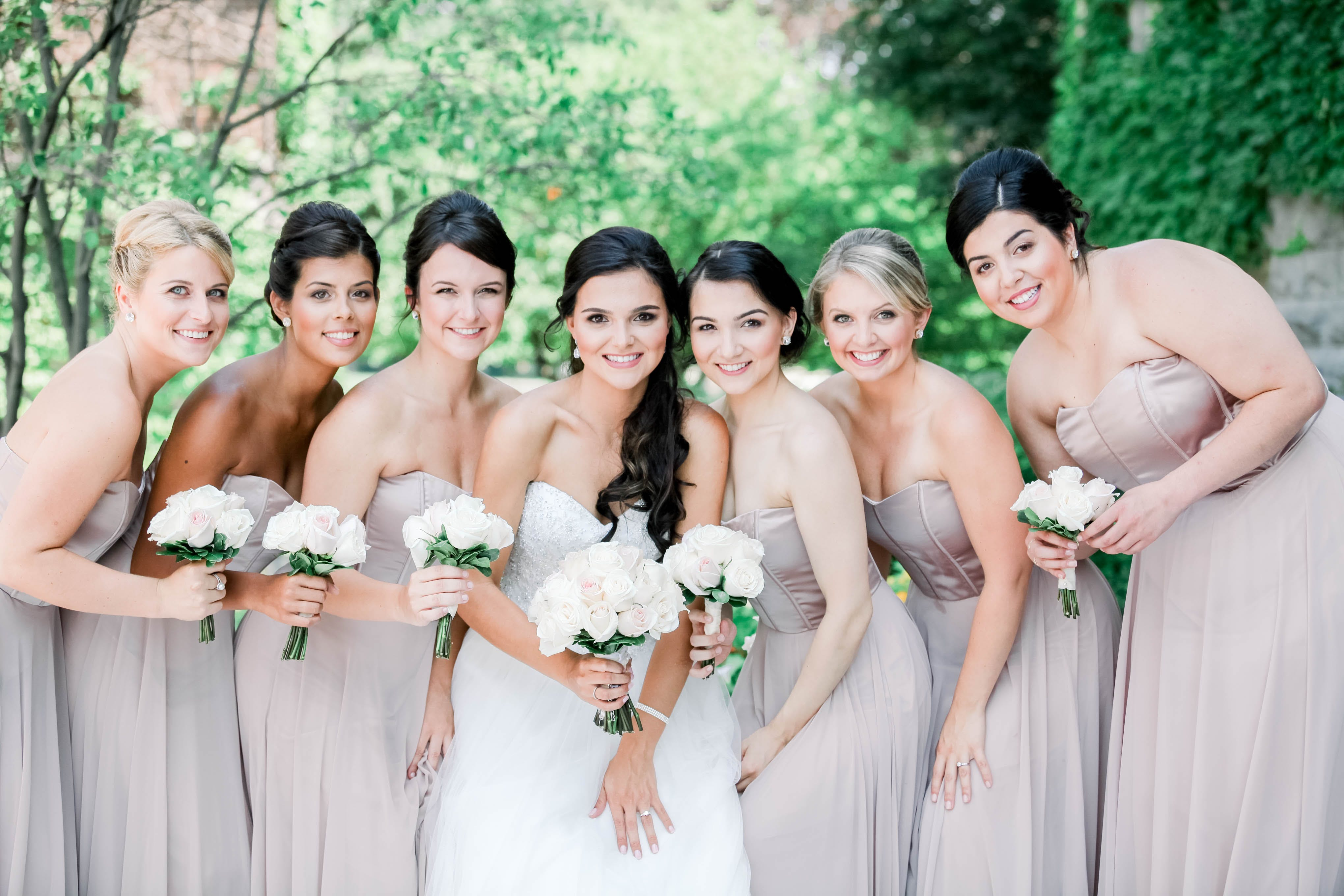 group of bridesmaids
